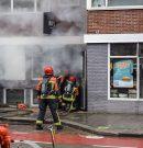 Forse rookontwikkeling bij brand in snackbar